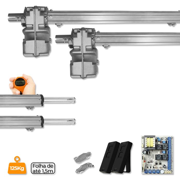 Kit Duplo Motor para Portão Pivotante Piston Home Analógico
