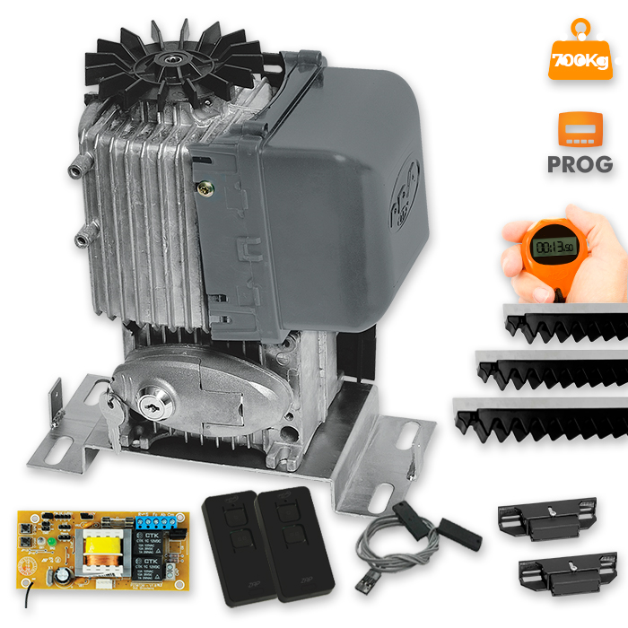 Kit Motor para Portão Deslizante DZ Eurus Steel Analógico 13,5seg