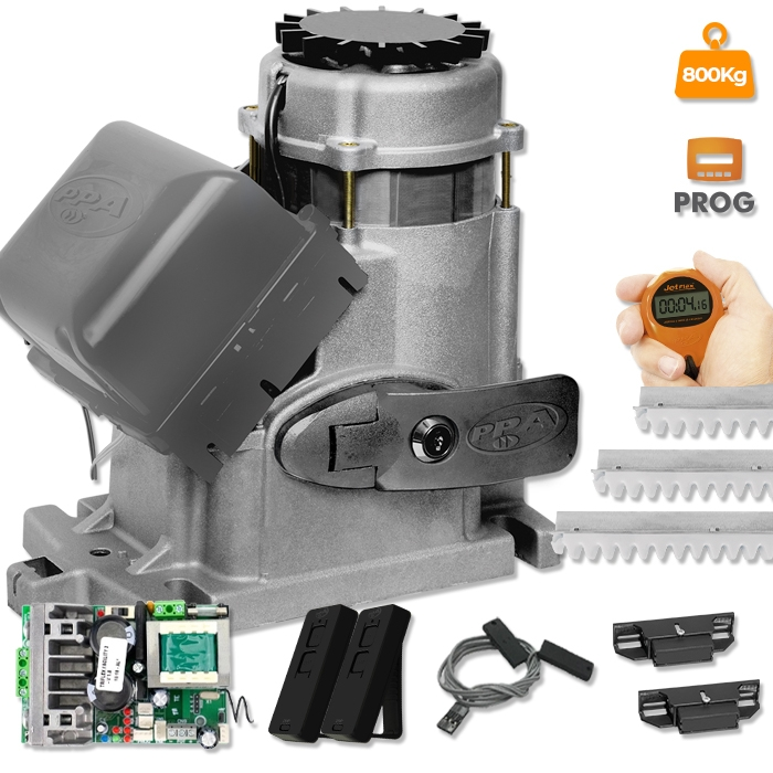 Kit Motor para Portão Deslizante Industrial DZ Condominium JetFlex 4seg