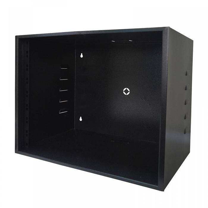 """Rack Organizador para CFTV Padrão 19"""" 8U x 350mm c/ Visor Acrílico"""