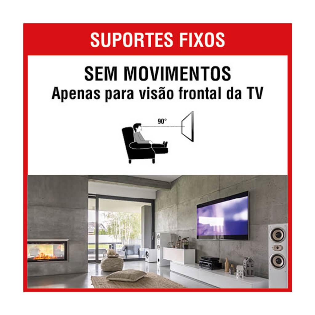 "Suporte Fixo Universal para TV/Monitor  10"" à 85"" - SBRU859"