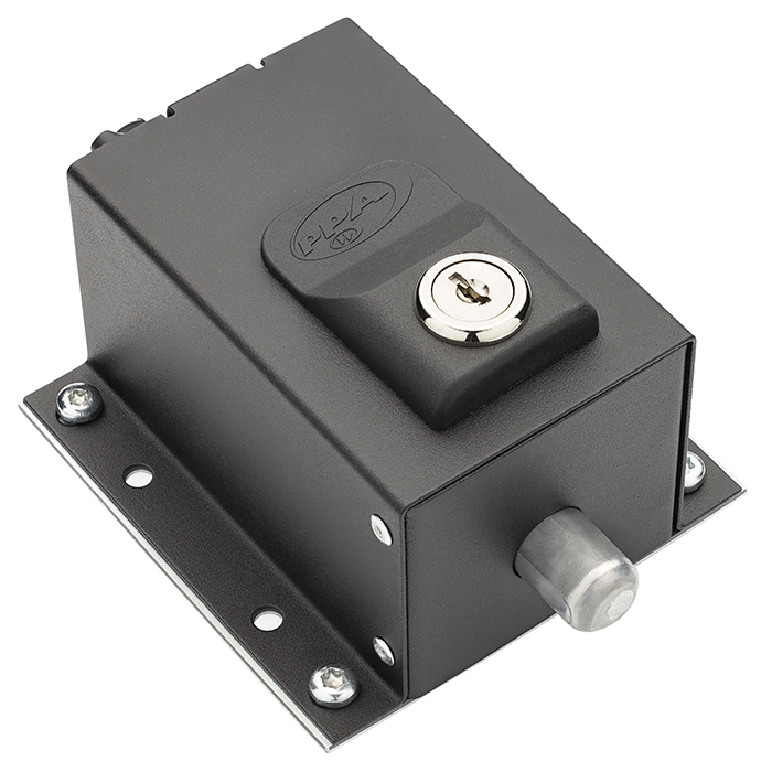 Trava Eletromagnética Universal Preta Dog Steel Custom PPA
