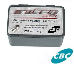 CHUMBINHO CBC NITRO POINTED SILVER 4.5MM