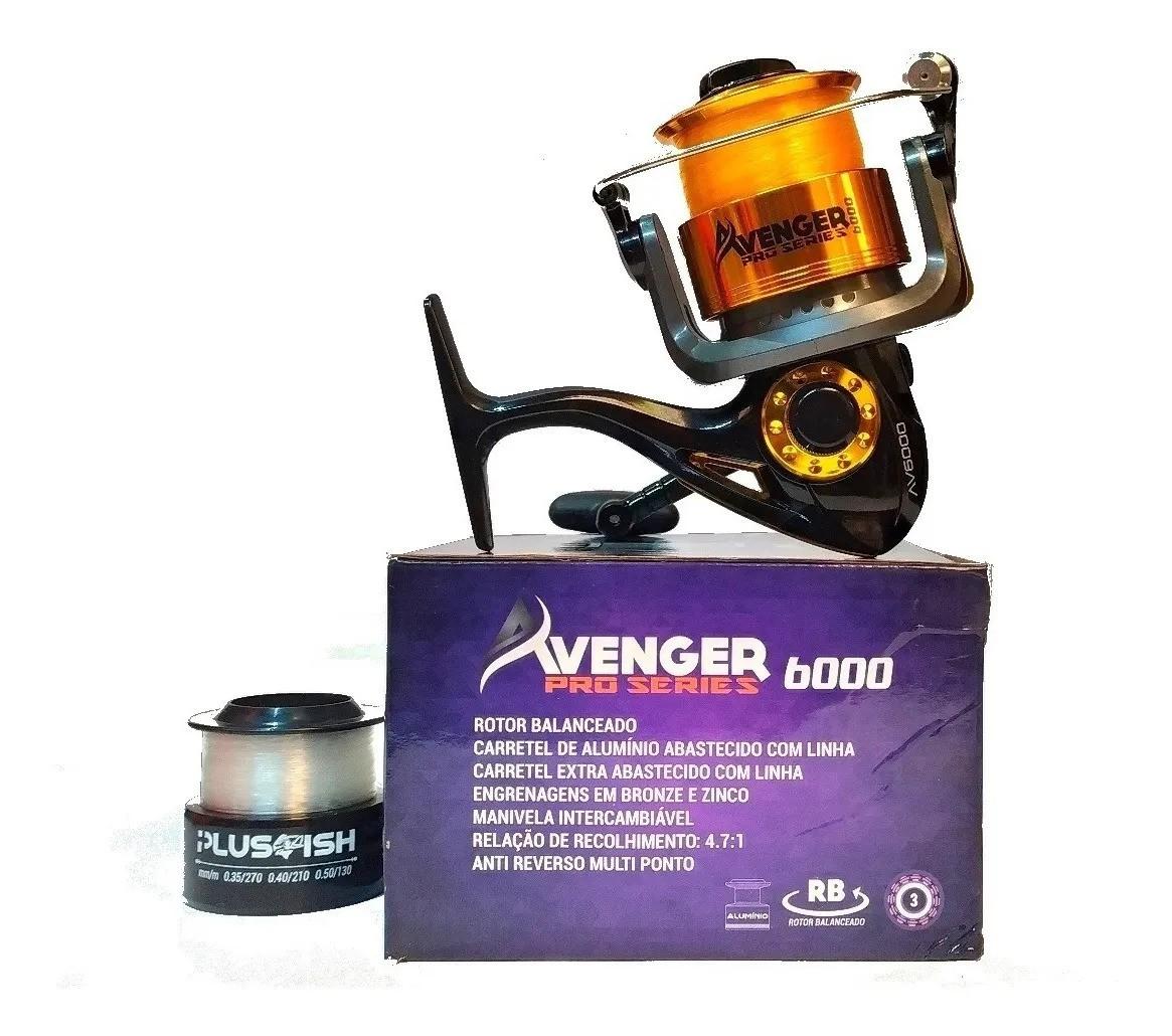 KIT VARA 3.0MTS E MOLINETE AVENGER 6000