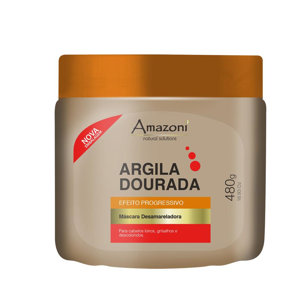MÁSCARA DESAMARELADORA AMAZONÍ ARGILA DOURADA NOVA 480g