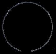 L156870 - ANEL TRAVA COROA - DANA - JOHN DEERE - 6185J