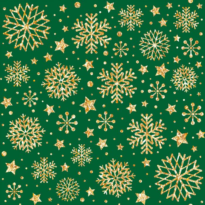 Tecido Patchwork Peripan Natal Verde Floco de Neve 0,50X1,50mts