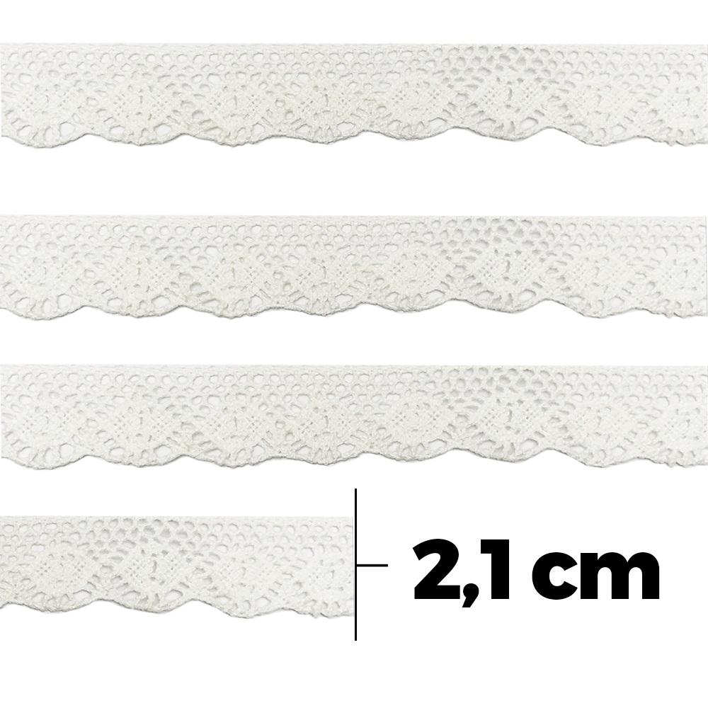 Renda 100% Algodão ArtePunto RA019 Branco 10m