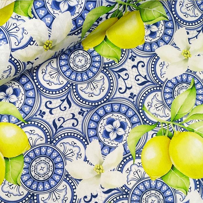 Tecido Patchwork Digital Peripan Limão Siciliano 0,50X1,50mts
