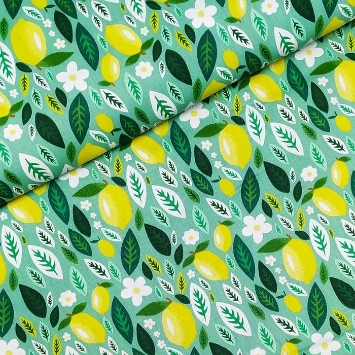 Tecido Patchwork Fabricart Limão Siciliano 0,50X1,50mts