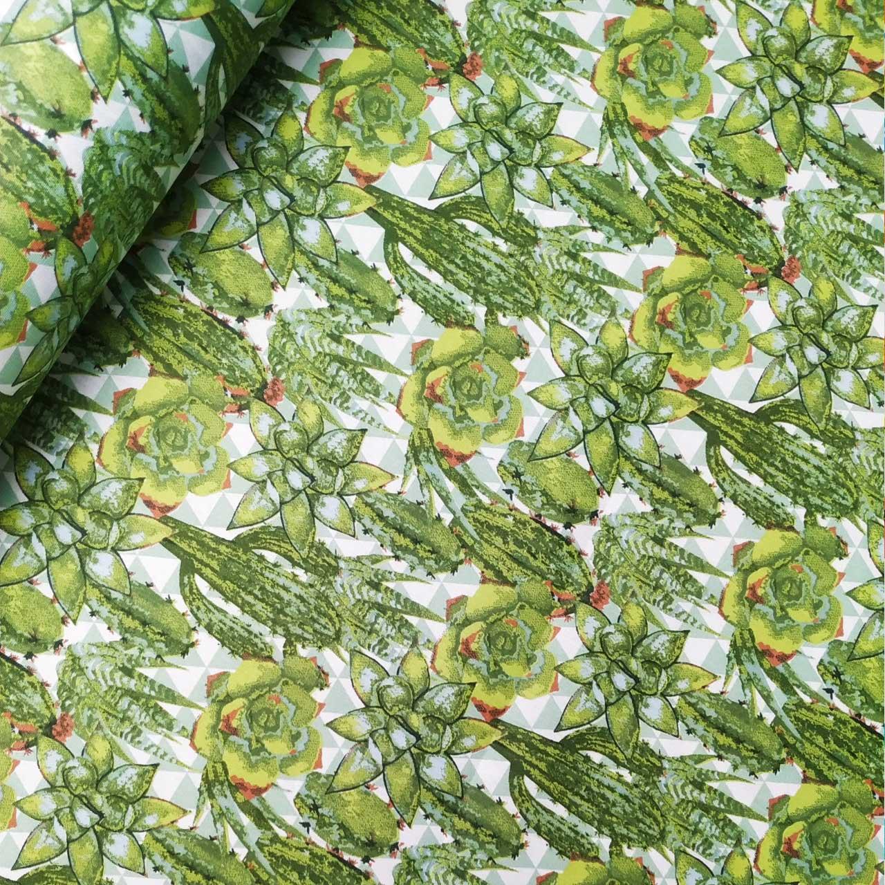 Tecido Patchwork Peripan Floral Cactos 0,50X1,50mts