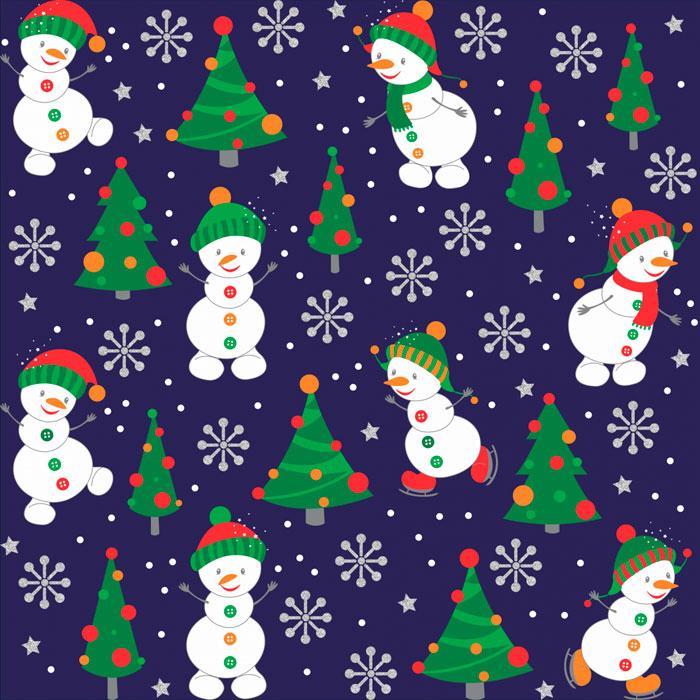 Tecido Patchwork Peripan Natal Azul Boneco de Neve 0,50X1,50mts