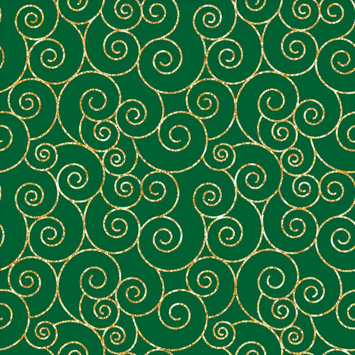 Tecido Patchwork Peripan Natal Verde Espirais 0,50X1,50mts