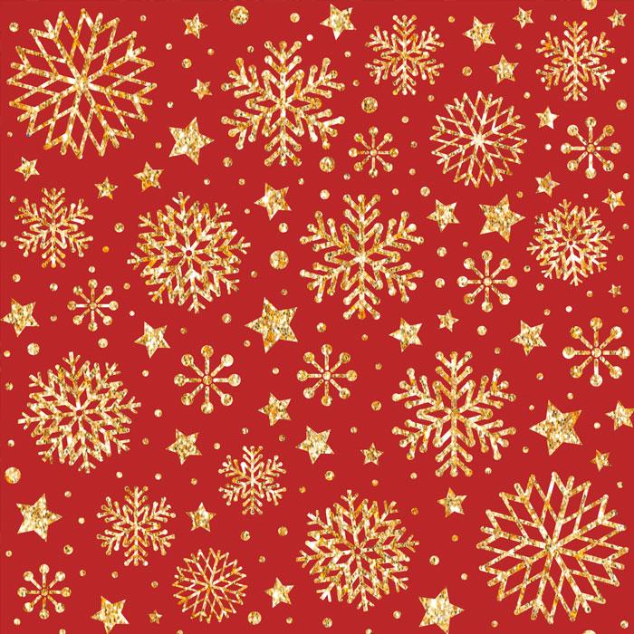 Tecido Patchwork Peripan Natal Vermelho Floco de Neve 0,50X1,50mts