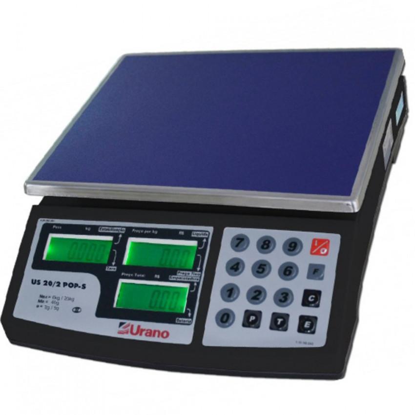 BALANCA ELET. 020 KG Com Bateria - Preta POP-S  20/02 - URANO