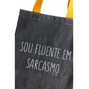 Bolsa Jeans Sou fluente em sarcasmo