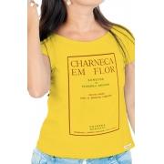 Camiseta Amarela Capa de livro Florbela Espanca