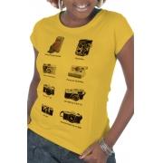 Camiseta Amarela Fotográficas (Di)Versas