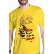 Camiseta Amarela Paulo Freire