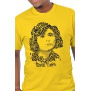 Camiseta Amarela Rostos Letrados: Florbela Espanca