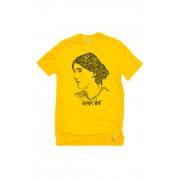 Camiseta Amarela Rostos Letrados: Virginia Woolf