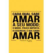 Camiseta Amarela Saiba Amar