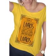 Camiseta Amarela Sempre Terei Livros