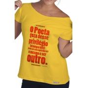 Camiseta Amarela Ser o mesmo e ser outro