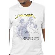 Camiseta Branca A Culpa de Voltaire