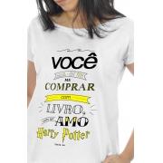 Camiseta Branca Amo Harry Potter