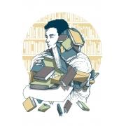 Camiseta Branca Amo Livros