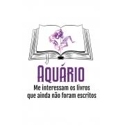 Camiseta Branca Aquarianos leitores