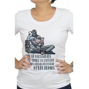 Camiseta Branca As Armas de Deleuze
