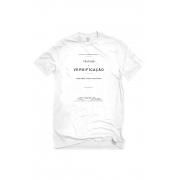 Camiseta Branca Capa de livro Tratado de Versificação