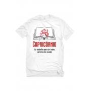 Camiseta Branca Capricornianos leitores