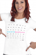 Camiseta Branca Criptomaníaco