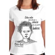 Camiseta Branca Curie, Mãe da Ciência Nuclear