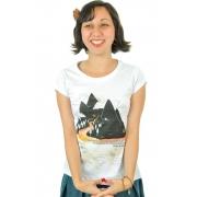 Camiseta Branca Edgar Allan Poe