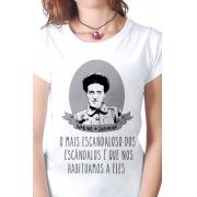 Camiseta Branca Escândalo de Simone de Beauvoir