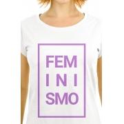 Camiseta Branca Feminismo Concreto
