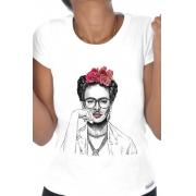 Camiseta Branca Frida Hipster