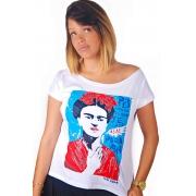 Camiseta Branca Frida Kahlo