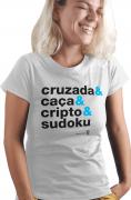 Camiseta Branca Helvética Coquetel