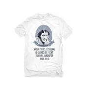 Camiseta Branca Liberdade de Virginia Woolf