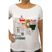 Camiseta Branca Mato Grosso Literário