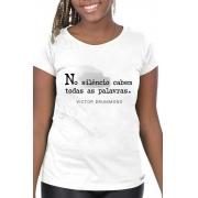 Camiseta Branca No silêncio