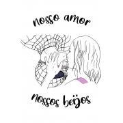Camiseta Branca Nossos Beijos