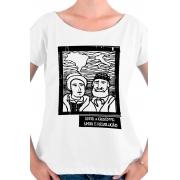 Camiseta Branca O Amor em Cordel: Anita e Giuseppe