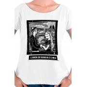 Camiseta Branca O Amor em Cordel: Chicó e Rosinha