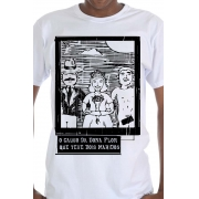 Camiseta Branca O Amor em Cordel: Dona Flor, Vadinho e Teodoro